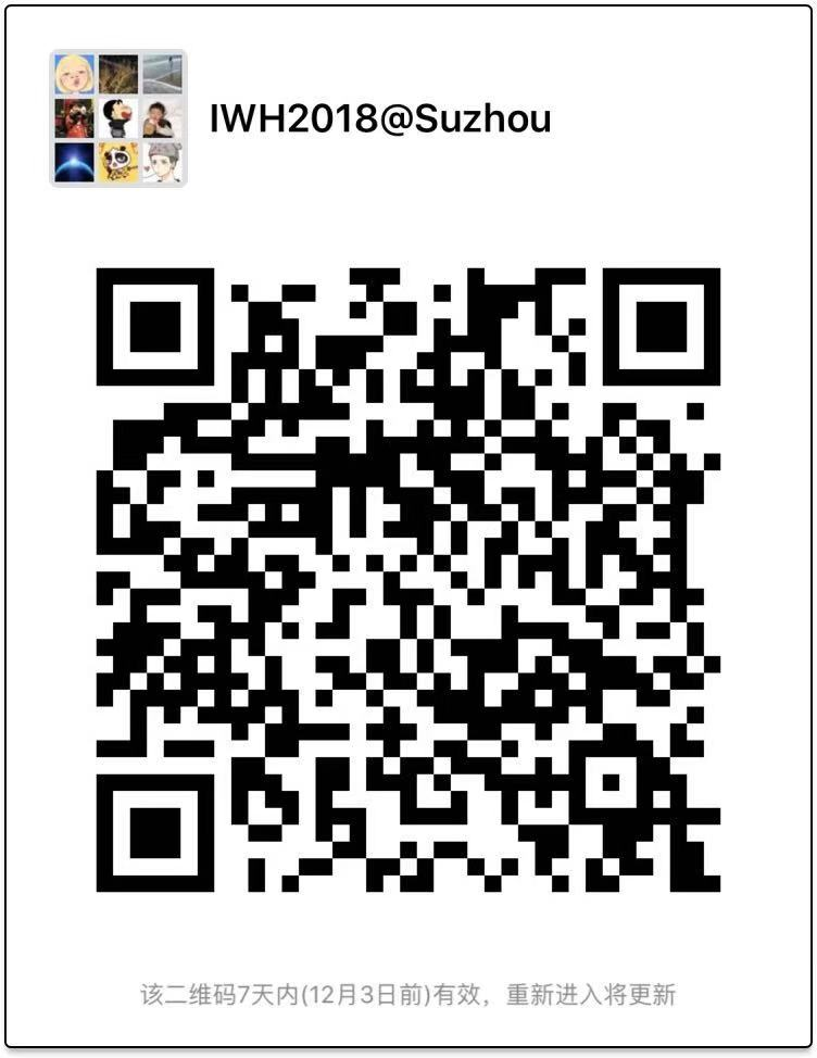 Join the Wechat Group——International Workshop on